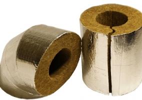 Теплоизоляция для труб отопления - оболочка из фольгированной базальтовой ваты