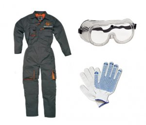 Защитная одежда, перчатки и очки для безопасной резки стекла
