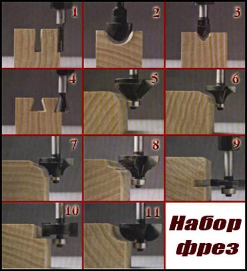 Варианты обработки различными видами фрез