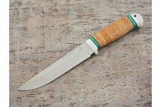 """Нож """"Пустельга"""". Рукоять: береста, алюминий"""
