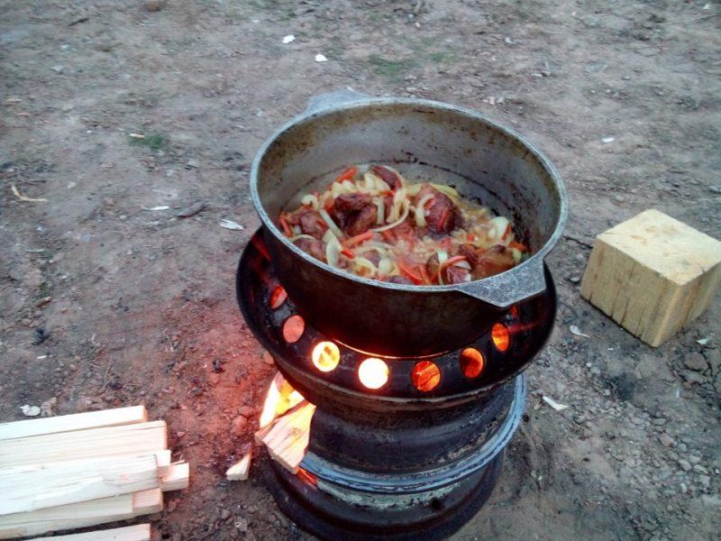 Казан на самодельную печь