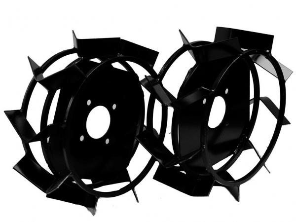 Металлические колеса с грунтозацепами от мотоблока