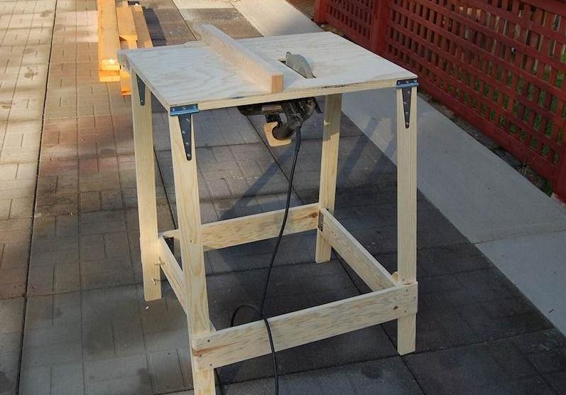 Сделать стол для циркулярной пилы несложно