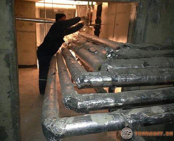 фото: Теплоизоляцияотопления в подвале