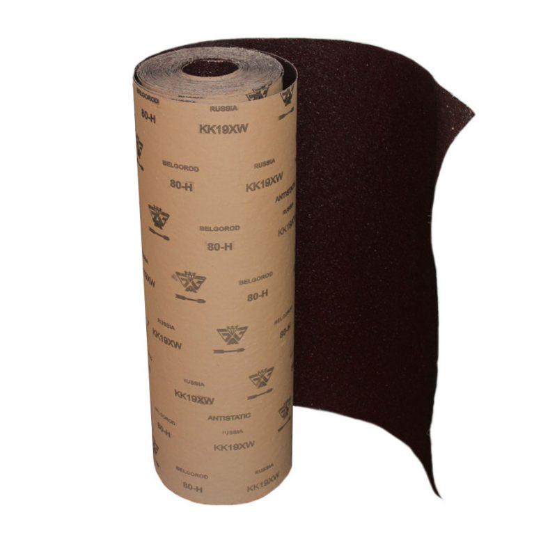 Белгородская наждачная бумага поставляется в рулонах шириной 90 см.