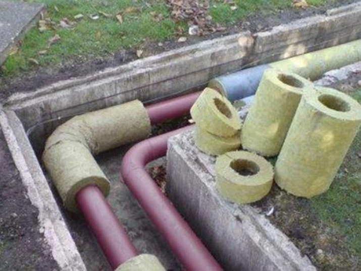 Теплоутеплитель труб отопления на улицу