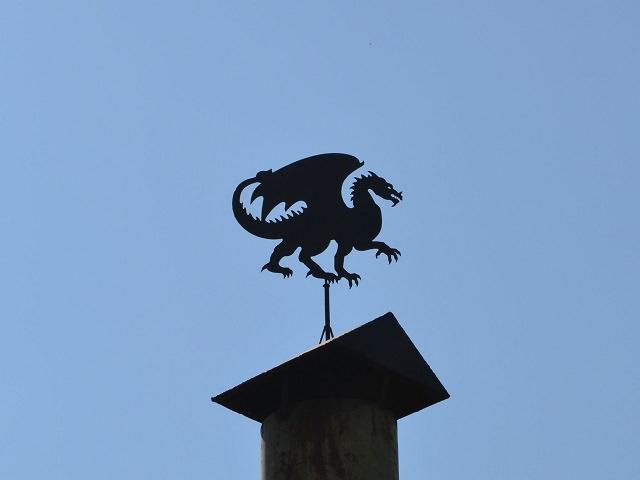Флюгер своими руками в виде дракона