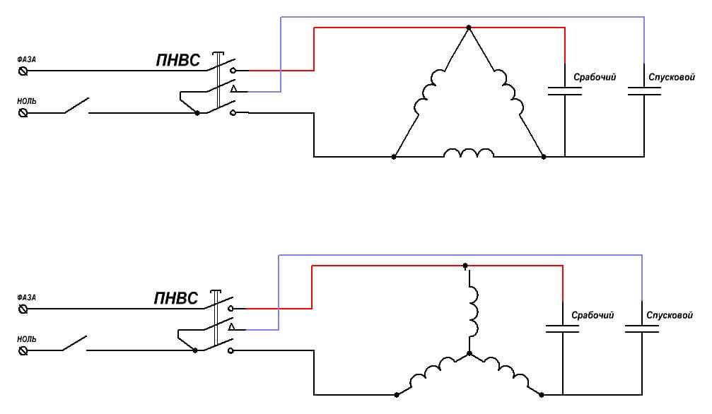 Схема подключения кнопки ПНВС