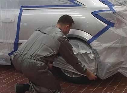 Подготовка автомобиля к аэрографии