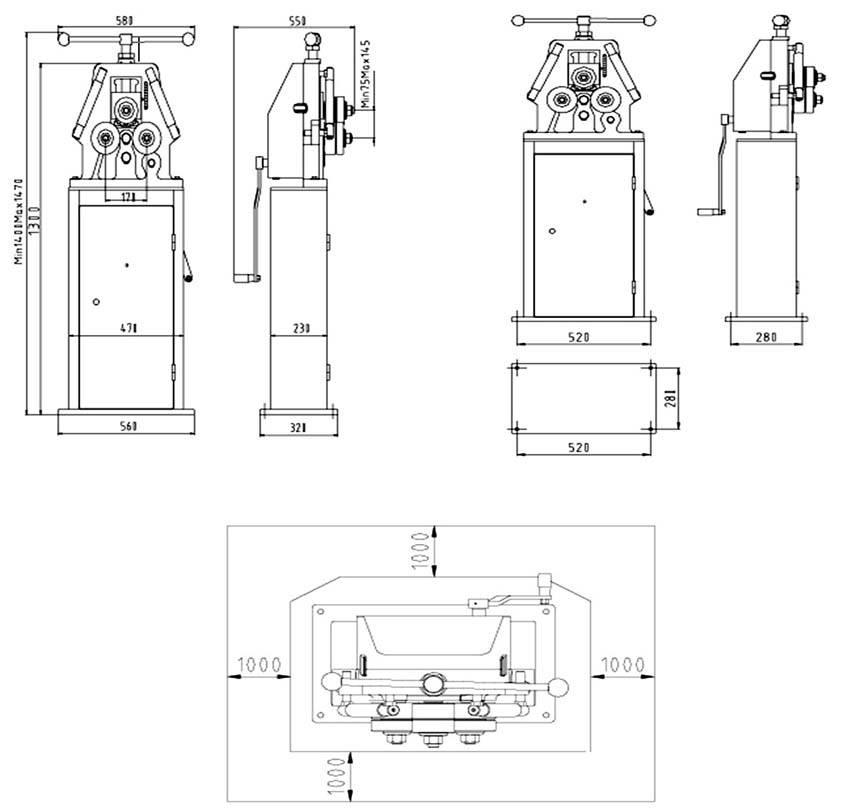Гидравлический трубогиб своими руками: чертеж
