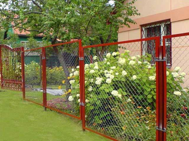 секционный забор из рабица