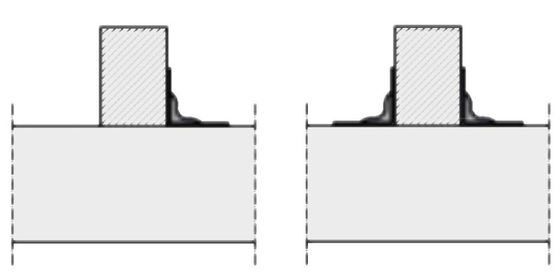 схематический рисунок размещения уголков относительно бруса