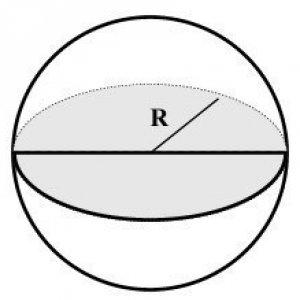 Расчитать объема / площади окружности / шара