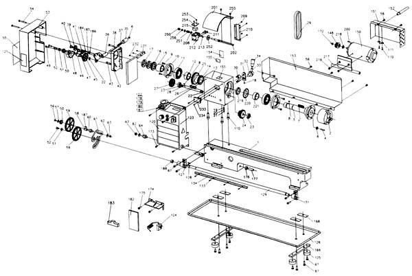Jet BD-7 Схема сборки токарно-винторезного станка