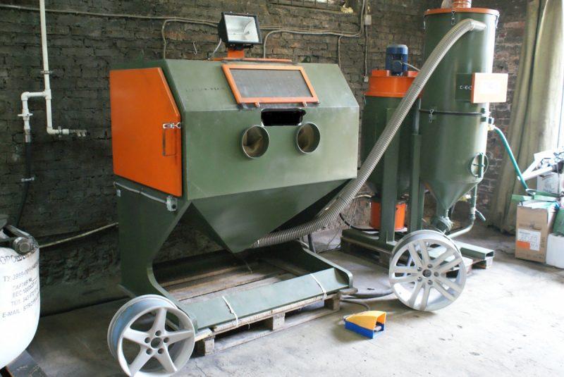 Стационарный пескоструйный аппарат