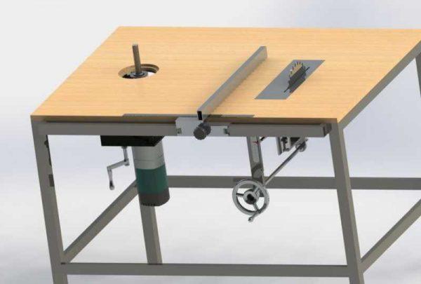 Вариант стола с механизмом подъема