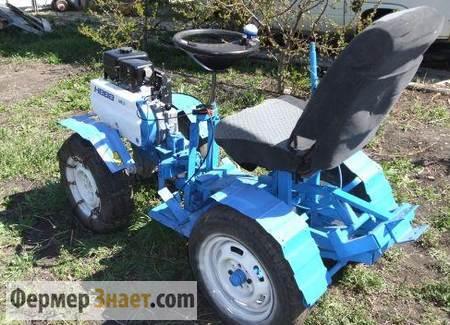 Мини-трактор с сиденьем от автомобиля