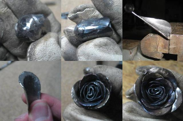 роза из металла мастер-класс