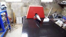 Дровокол из старого маховика и двигателя стиральной машинки