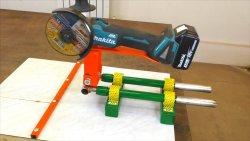Стойка для болгарки из ручки от детского велосипеда. Крайне полезная самоделка