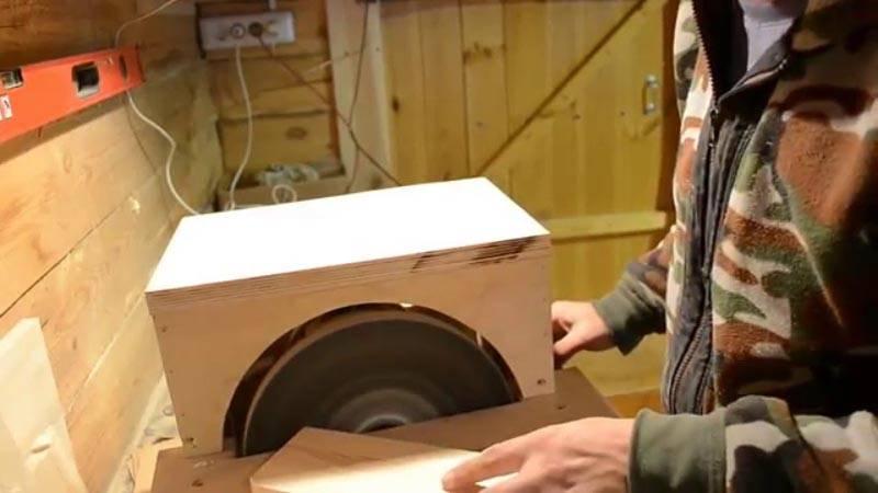 Домашний дисковый станок в действии