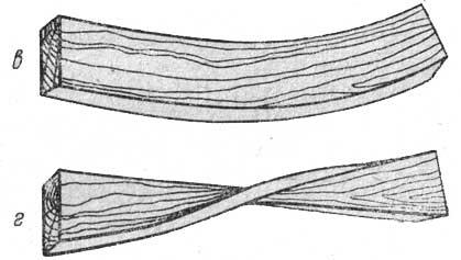 Деформация пиломатериала дугой и «пропеллером»
