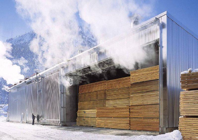 Интенсивная сушка обычно применяется на деревообрабатывающих предприятиях