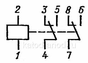 Принципиальная электрическая схема реле РЭС-9