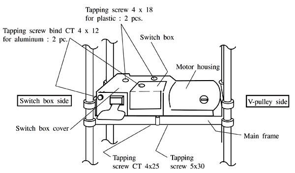 Снятие моторного модуля с рейсмуса Макита 2012