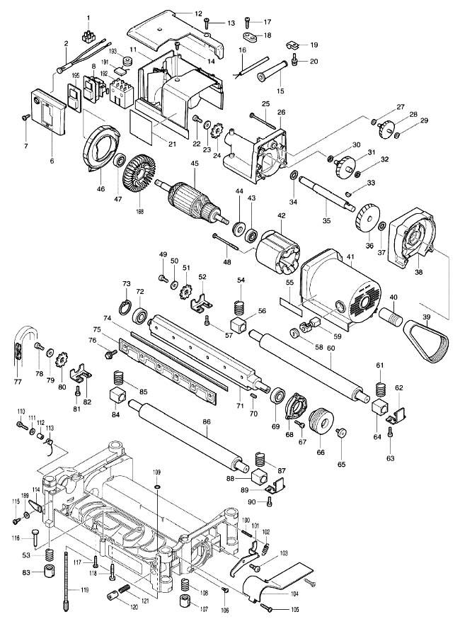 Схема сборки рейсмуса Макита-2012NB