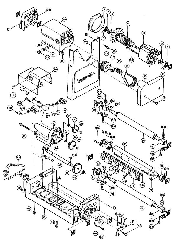 Схема сборки рейсмуса Макита 2012
